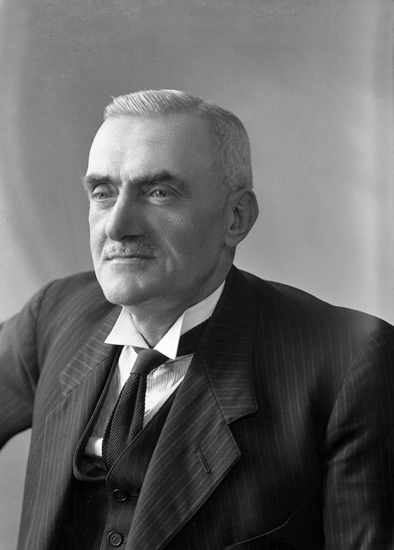 Bild på Gustav Hjäler som äldre